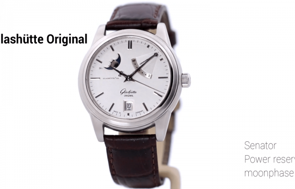 גלאסהוטה אוריגינל סנאטור מון-פייז – Glashütte Original Senator power reserve moonphase