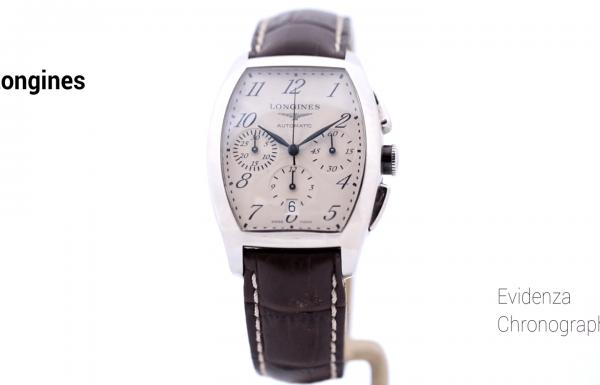 לוג'נין אבידנזה כרונוגרף לוח לבן – Longines Evidenza Chronograph White Dial
