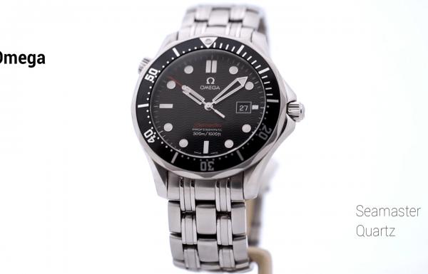 אומגה סימאסטר קוורץ לוח שחור 212.30.41.61.01.001 Omega Seamaster Quartz Black Dial