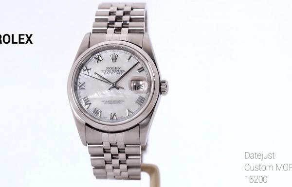 רולקס דייט ג'אסט לוח אם הפנינה 16200 Rolex DateJust Mother of Pearl dial
