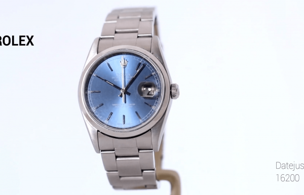 "רולקס דייטג'אסט 36 מ""מ בזל חלק Rolex Datejust Blue Dial 36mm 16200"