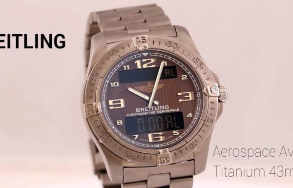 "ברייטלינג אירוספייס אוונטאג' טיטניום 43 מ""מ  Breitling Aerospace Avantage Titanium E79362"