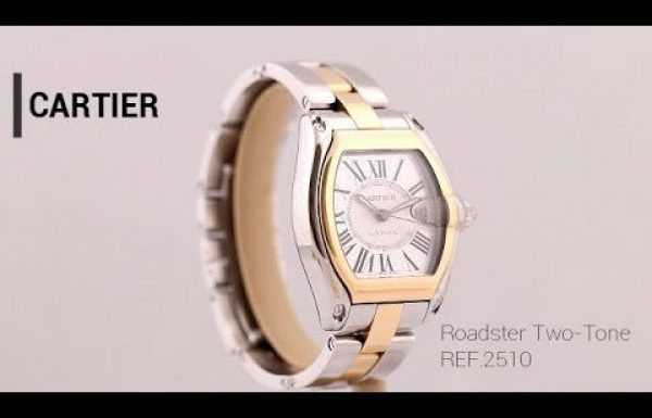 קרטייה רודסטר טו-טון זהב ופלדה רפרנס 2510 Cartier Roadster Two-tone steel gold Ref