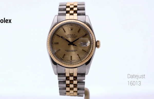 רולקס דייטג'אסט טוטון פלדה משולב זהב Rolex Datejust Two Tone Steel & Gold 16013