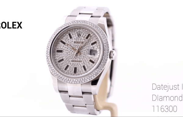 רולקס דייטג'אסט II משובץ יהלומים 116300 Rolex Datejust II Diamond dial & Bezel
