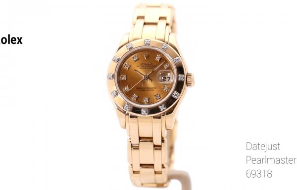 רולקס דייטג'אסט פרלמאסטר זהב צהוב Rolex Datejust Pearlmaster Yellow Gold 69318