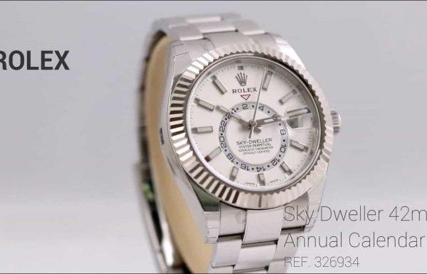 רולקס סקיי דוולר פלדה לוח לבן Rolex Skydweller Steel White Dial 326934