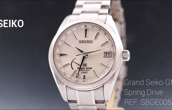 """גרנד סייקו ספרינג דרייב SBGE005 GMT לוח כסוף 41 מ""""מ Grand Seiko Spring Drive"""