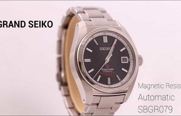 גרנד סייקו אוטומטי אנטי מגנטי לוח שחור  Grand Seiko Automatic anti-Magnetic  Ref SBGR079